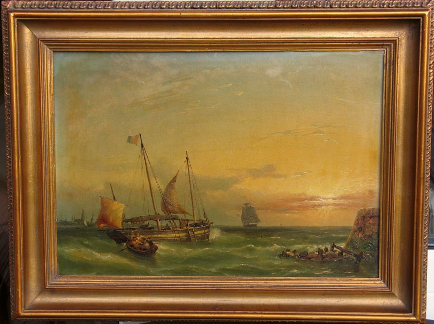 mid 19th Century French Marine Painting