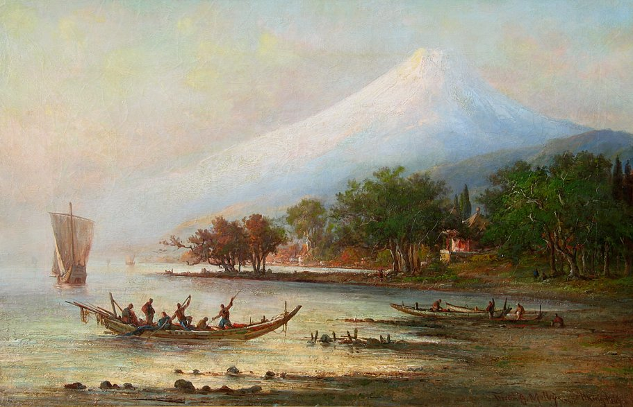 Antique View of Mount Fuji