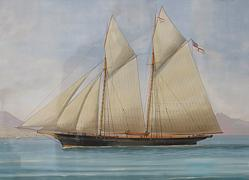 Antique Italian Ship Portrait
