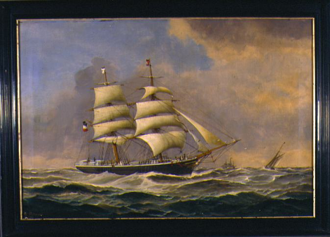 Heinrich Petersen Ship Portrait